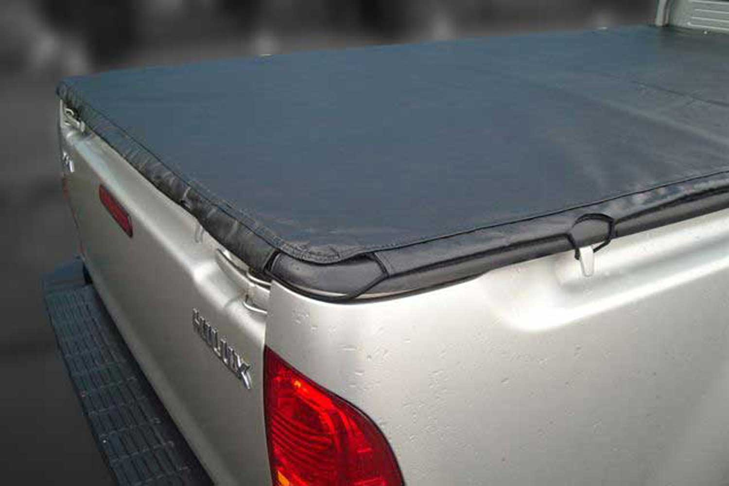 Toyota hilux single cab 2005 2012 hook type tonneau for Types of bed covers