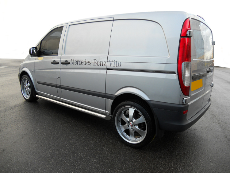 Mercedes Vito W639 04-14  Stainless Steel Side Bars No Step