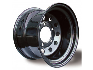 6 Bolt Black Modular Steel Wheels