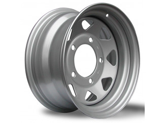 16X7 Defender Grey 8 Spoke Steel Wheel