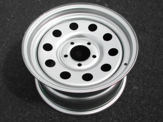 16X8 5 X 120 Silver Modular Steel Wheel For Volkswagen Amarok