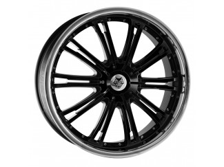 20X8.5 Honda Crv Wolf VE Black Alloy Wheels