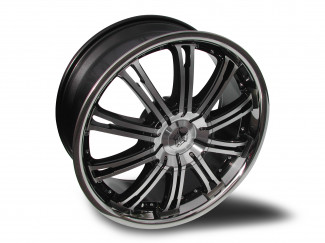 20X8.5 Mitsubishi Outlander Wolf Ve Machine Faced Black  Alloy Wheels