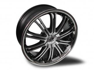 20X8.5 Kia Sportage Wolf Ve Machine Faced Black  Alloy Wheels