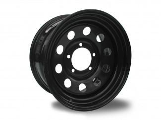 16X7 +8 Black Modular Steel Wheels Landrover Fitment
