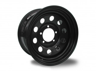 15X7 5-139 Suzuki Vitara Black Modular Steel Wheel