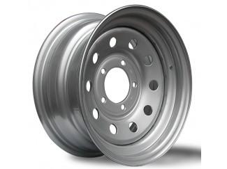 15X7 5-139 Daihatsu Fortrak Silver Modular Steel Wheel