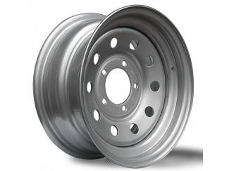 15X7 5-139 Sportrak Silver Modular Steel Wheel