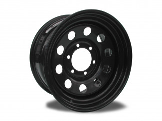 16X7(0) 6 Bolt Jap Black Modular Steel Wheel