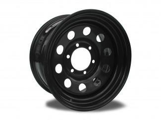 16X7  6-139 Zero O-S Mitsubishi Shogun Black Modular Steel Wheel