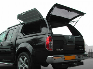 D40 Nissan Navara Alpha Gullwing Truck Top  In Gloss White Paintable Finish