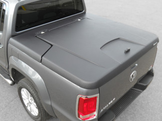 VW Amarok Double Cab Aeroklas Tonneau Cover Textured Black Plastic Finish