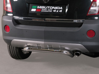 63mm Stainless Steel Rear Bar By Misutonida For Vauxhall Antara 2011 On