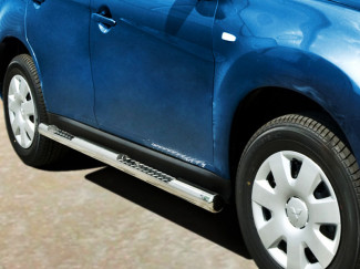 76mm Side Bars Stainless Steel For Mitsubishi ASX 12 On
