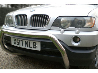 63mm Stainless Steel A-Bar Nudge Bar For BWM X5 2000 To 2007