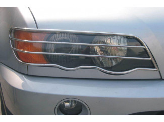 Bmw X5 00-05 Stainless Steel  Front Light Guards