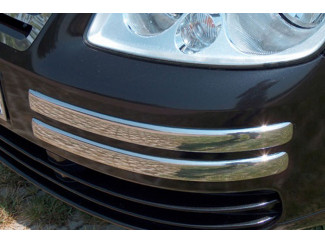 Vw Caddy Mk3 04- Stainless Steel Front Bumper Trim