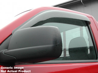Small Carbon Fibre Effect Quad Set Of Wind Deflectors For 5dr 2002 To 2006 Toyota Camry