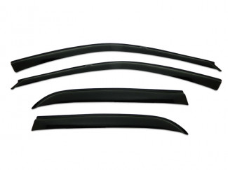 Small Front Pair Of Wind Deflector Visors For Mitsubishi Lancer 4 Door 89 To 91