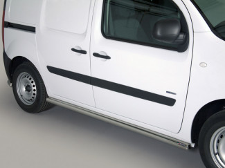 Mercedes Citan 2012 On Stainless Steel 63mm Side Protection Bars By Mach