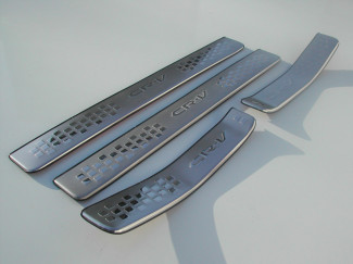 2007 on Honda CRV Brushed Stainless Steel Door Sill Protectors