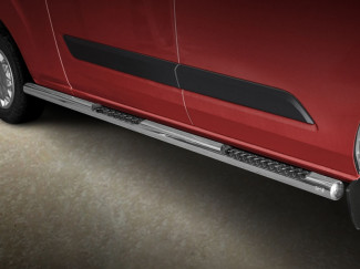 Ford Transit Custom 12 Onwards LWB Stainless Steel 76mm Side Bars