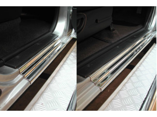 Nissan Navara D22-D23 Stainless Steel Sill Protector  Covers