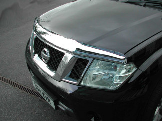 Nissan Navara D40 2010 On Bonnet Guard (Chrome Finish)