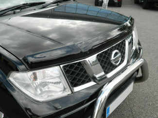 Nissan Navara D40 And Pathfinder Bonnet Guard (Dark Smoke)