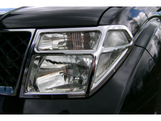 Nissan Navara D40 2005-2010 Chrome Headlamp Covers