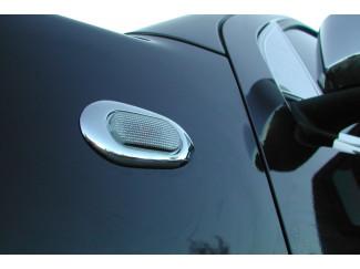Nissan Navara D40 Chrome Side Repeater Lamp Rim Surround Set