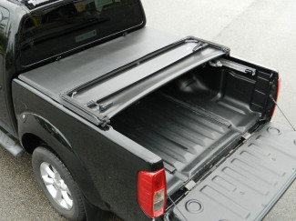 2005 On Nissan Navara D40 With C-Channels Double Cab Soft Tri-Folding Tonneau Cover