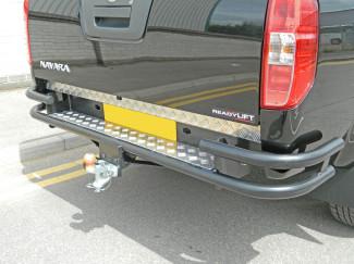 Nissan Navara D40 Black Wrap Rear Bar With Tow Mk2