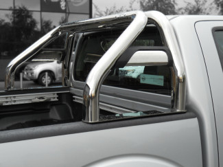 Nissan D40 Navara Single Hoop Roll Bar With Horizontal Support Tubes