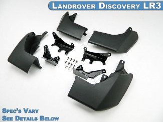 Landrover Discovery LR3 05-09 Mud Flap Kit Steep Angle Type