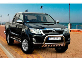 Toyota Hilux 2012 - 2016 Stainless Steel Bull Bar 70mm EU Approved