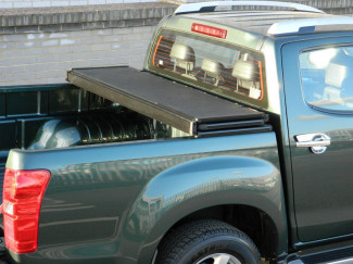 Alloy Tri-Fold Heavy Duty Tonneau Cover For 2012 On Isuzu D-Max Double Cab