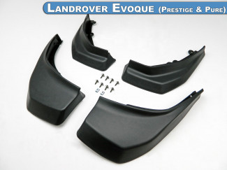 Mud Flap Kit 4pc Set For the Ranger Rover Evoque Prestige & Pure