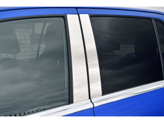 Stainless Steel Door Pillar Trims For The Toyota Hilux 16 Onwards