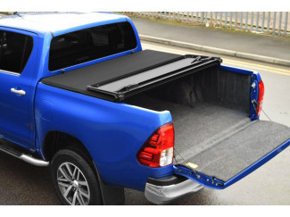 Toyota Hilux 16 On Double Cab Hard Folding Tonneau Cover