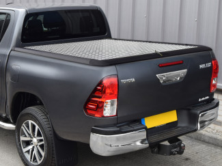 TOYOTA HILUX EXTRA CAB 2016 ONWARDS WITHOUT LADDER RACK CHEQUER PLATE LOAD BED COVER