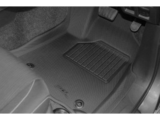 New Hilux Tray Style Tailored Floor Mud Mat Set - Automatic Gearbox Only