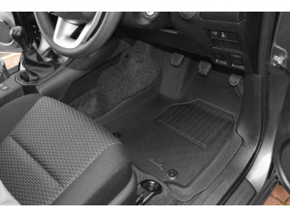 New Hilux Tray Style Tailored Floor Mud Mat Set - Manual Gearbox Only