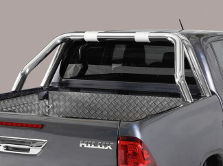 Stainless Steel Single Hoop Roll Bar Toyota Hilux 16 Onwards