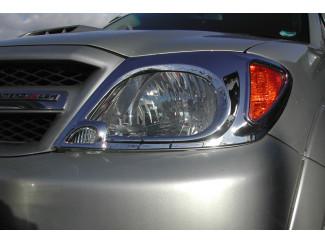 Toyota Hilux Mk6 Chrome Head Lamp Covers