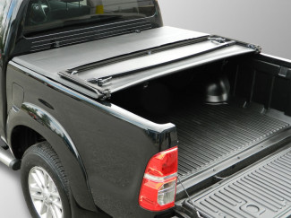 2005 On Toyota Hilux Mk6-7 Double Cab Soft Tri-Folding Tonneau Cover No Ladder Rack
