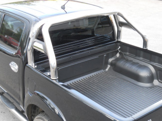 Toyota Hilux 2005 Onwards Single Hoop Roll Bar With Horizontal Support Tubes