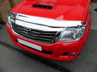 Toyota Hilux 2012 on Bonnet Guard (Chrome Finish)