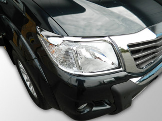 Toyota Hilux Mk7 Chrome Head Lamp Covers