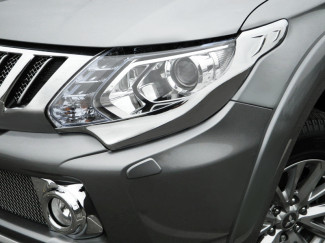 Mitsubishi L200 2015 Onwards Chrome Head Light Garnish